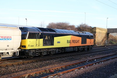 60087 1122/6N19 Lynemouth-Tyne Dock passes Pelaw with the days 2nd  Biomass working   27/12/18