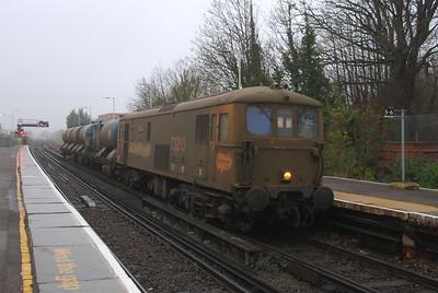 73213 Basingstoke 23/11/18 6Y91 Eastleigh to Tonbridge