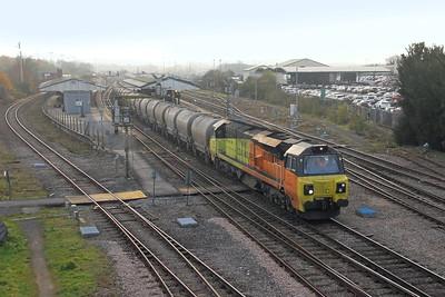 70815 Westbury 15/11/18 6C36 Moorswater to Aberthaw Tarmac