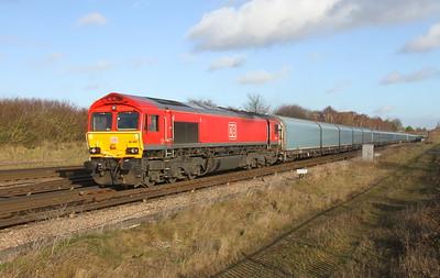 66044 Worting Junction 30/11/18 4O39 Morris Cowley to Southampton Eastern Docks