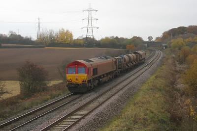 66104 Berkley 15/11/18 on the rear of 3J13 Westbury to St Blazey