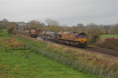 66067 Hanging Langford 15/11/18 3J13 Westbury to St Blazey
