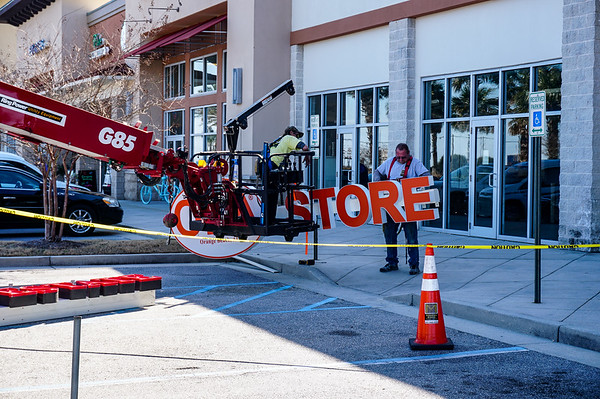 OBA Store Sign Going Up