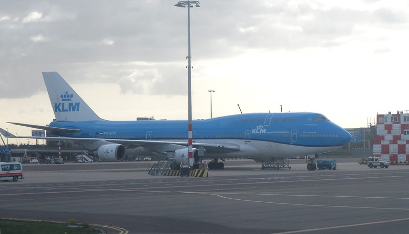 KLM Boeing 747-400 PH-BFW at Amsterdam Schiphol Airport ahead of a flight to Mexico, 03.10.2018.