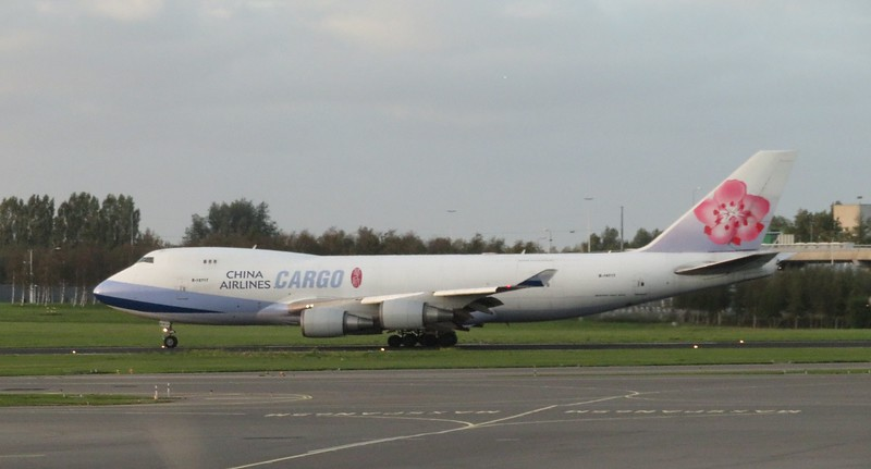 China Airlines Cargo Boeing 747-400F B-18717 at Amsterdam Schiphol Airport bound for Bangkok, 03.10.2018.