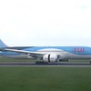 TUI Boeing 787 Dreamliner PH-TFK landing at Amsterdam Schiphol with a flight from Willemstad, 03.10.2018.