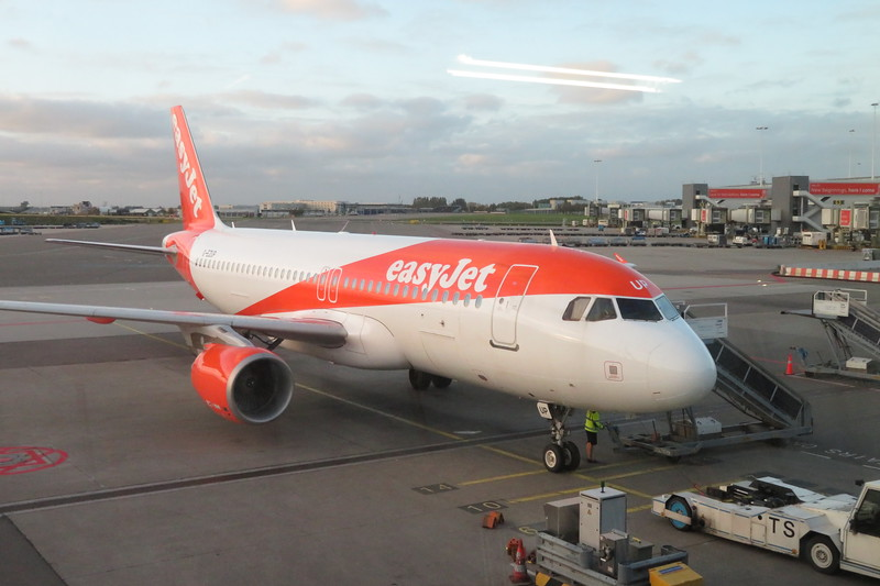 EasyJet Airbus A320 G-EZUP at Amsterdam Schiphol Airport with a flight to Basel, 03.10.2018.