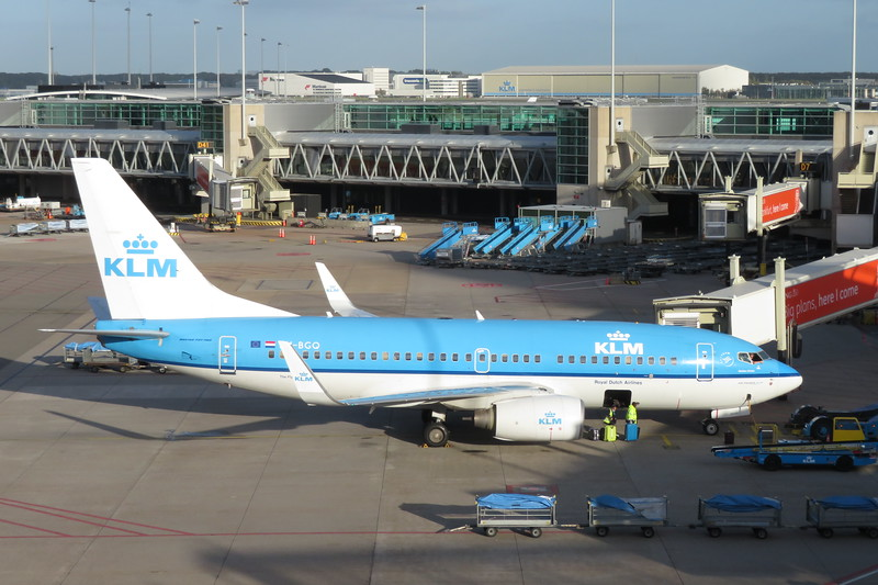 KLM Boeing 737-700 PH-BGQ at Amsterdam Schiphol Airport on a flight to Paris, 03.10.2018.