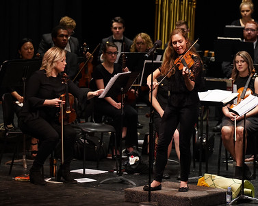 Gardner-Webb Orchestra preforms for children at Shelby High School.