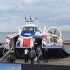 "HoverTravel Griffon 12000TD hovercraft ""Island Flyer"" at Ryde Esplanade having come from Southsea, 13.10.2018."