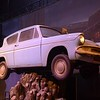 One of several Ford Anglias that portrayed the Weasleys' flying car at the Harry Potter Studio Tour, Leavesden Studios, 26.10.2018.