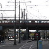 An HTM BN GTL8 tram crossing the bridge at Den Haag Centraal station, 03.10.2018.
