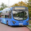 Go Whippet (Tower Transit) guidewheel fitted Volvo Wright Eclipse BT66MVH WG107 at Madingley Road Park & Ride, Cambridge on guided busway route U, 07.10.2018.