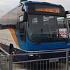 Stagecoach Volvo Plaxton Panther KX58NCO 53616 at Luton Airport on the 99 from Milton Keynes, 03.10.2018.