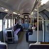 South Western Railway Island Line Class 483 (London Underground 1938 Stock) no. 483004 interior at Ryde Esplanade on a Shanklin service, 13.10.2018.