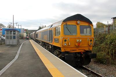 59003 Melksham 25/10/18 6Z59 Eastleigh to Hexthorpe Yard