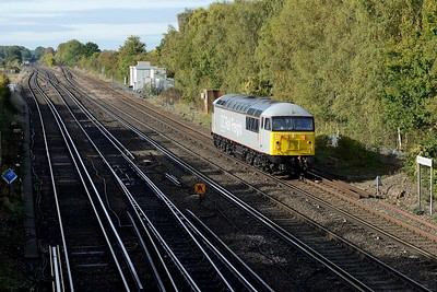 8 October 2018 :: 56103 is seen passing Worting running 0Z75 from Eastleigh to Willesden