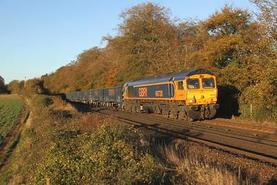 66728 Micheldever 29/10/18 4Y19 Mountfield to Southampton Western Docks