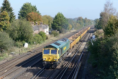 10 October 2018 :: 66952 is seen at Worting with 6O12 from Hinksey to Eastleigh