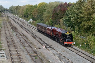 11 October 2018 :: LMS Coronation Class 4-6-2 no 6233 Duchess of Sutherland is seen at Hinksey working 5Z82 from Butterley to Swanage