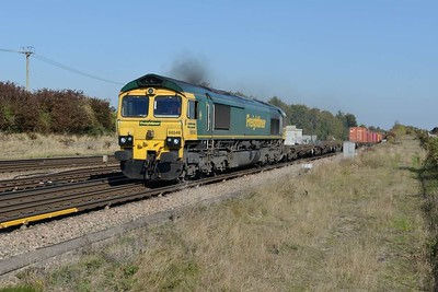 10 October 2018 :: 66548 is passing Worting with 4O49 from Crewe to Southampton