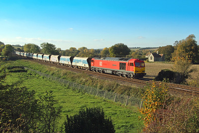 60062 Little Langford 19/10/18 7O40 Merehead to Eastleigh