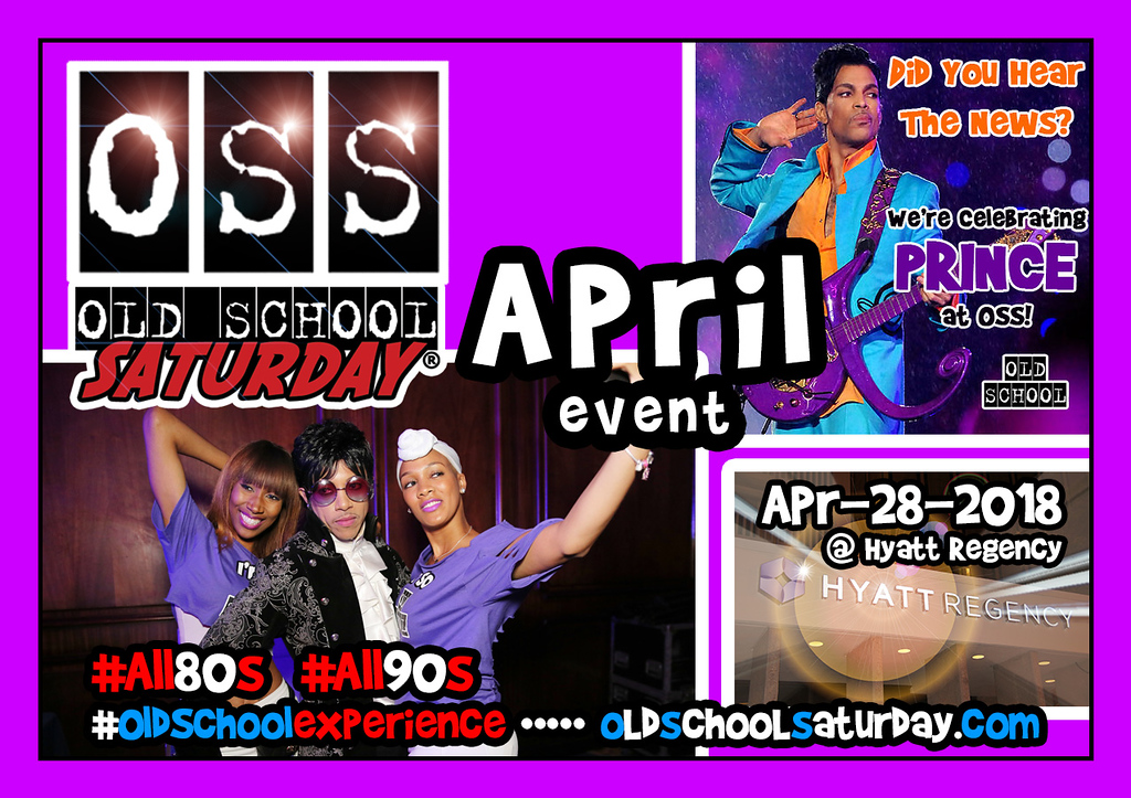 Join us as we celebrate THE MUSIC OF PRINCE once again.  Wear PURPLE attire (optional).  Tickets selling now:  oldschoolsaturday.com or 678.701.6114