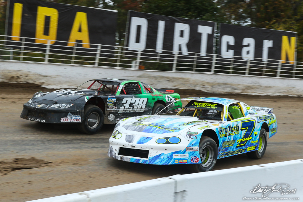 DIRTcar Pro Stock 50 - NAPA Auto Parts Super DIRT Week XLVII - Oswego Speedway - 7 Rob Yetman, 338 Pascal Tayeur