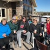 Sharon, Alli, Bryan, Marijo and Pam enjoy a drink on the Powderhorn lodge deck. Just a beautiful day! What could be better!?