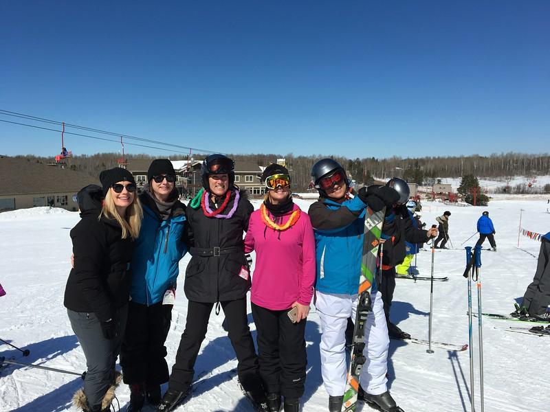"""Katelyn, Erin, Jenny, Nicole and Christine enjoying """"sister time"""""""