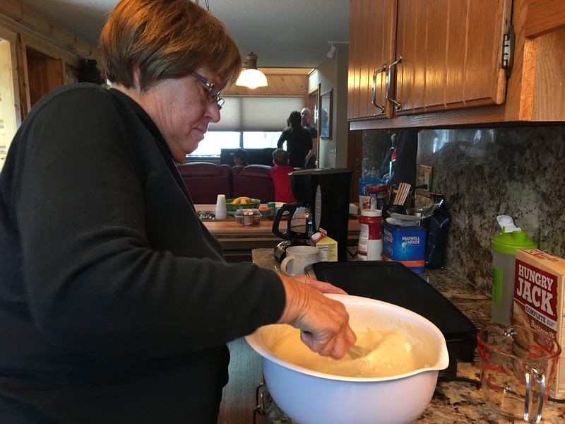Sharon has making pancakes for 29 down to a science.
