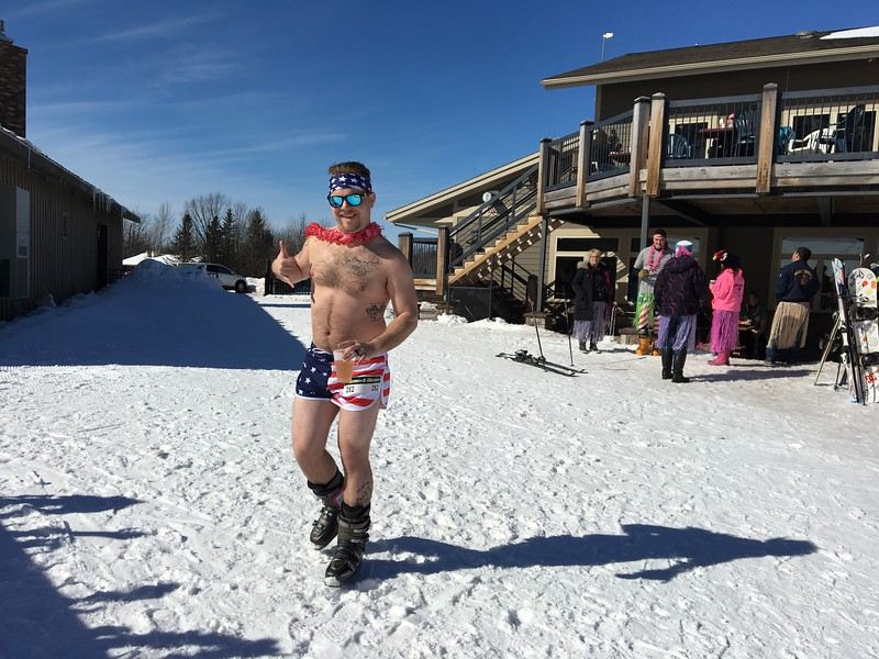 Maybe these guys. They both entered the bikini ski race. I wonder if our fellows thought about registering for this event. Don't think so.