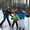 Jenny, Cole and Christine.  Cole is ready for the big hills.