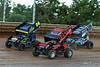 PA Sprint Car Speedweek - Port Royal Speedway - 24 Rico Abreu, 12 Blane Heimbach, 20 Ryan Taylor