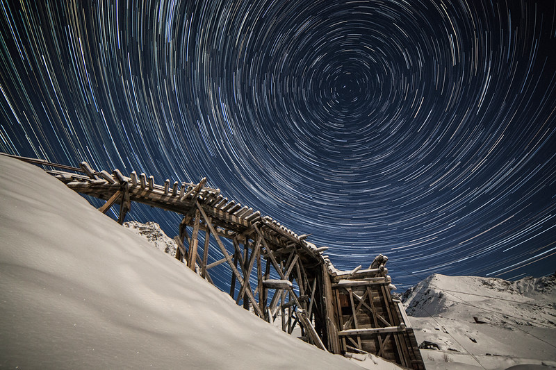 "The whole universe revolves around Hatcher Pass as the moon lights up the snowy winter landscape.<br /> <br /> See the behind the scenes here: <a href=""http://www.morffed.com/2018/Photo-A-Month-Behind-The-Scenes/i-dRzd5ZN/A"">http://www.morffed.com/2018/Photo-A-Month-Behind-The-Scenes/i-dRzd5ZN/A</a>"