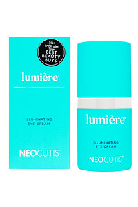 Lumiere Illuminating Eye Cream Box and Bottle with sticker