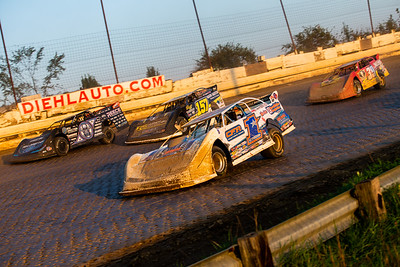 Chub Frank (1*), Mike Marlar (157), Scott Bloomquist (0) and Tim McCreadie (39)