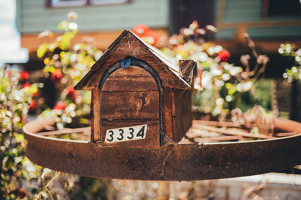 Super cute mailbox at the farm!