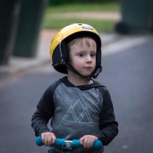 Sebastian Scooting 2 weeks before his 4th Birthday