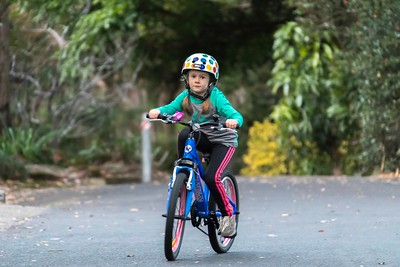 Scarlett Practicing on her new Bike (6 years old)