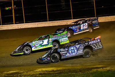 Josh Richards (1), Jason Jameson (12) and Scott Bloomquist (0)
