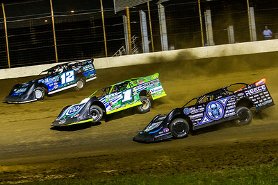 Jason Jameson (12), Josh Richards (1) and Scott Bloomquist (0)
