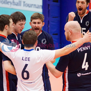 City of Edinburgh 3 v 2 City of Glasgow Ragazzi (25-20, 22-25, 24-26, 26-24, 15-13), 2018 Men's Scottish Cup Final, University of Edinburgh Centre for Sport and Exercise, Sat 21st Apr 2018.  © Michael McConville   https://www.volleyballphotos.co.uk/2018/SCO/Cups/2018-04-21-Mens-Cup-Final/