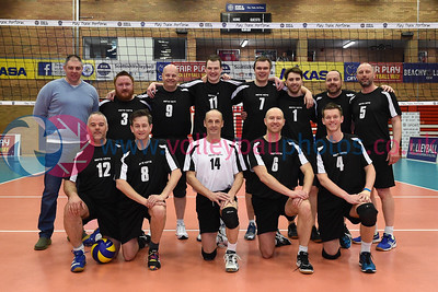City of Edinburgh II v Mets Vets, Men's Plate Final, University of Edinburgh, Centre for Sport and Exercise, 21 April 2018.  © Lynne Marshall  http://www.volleyballphotos.co.uk/2018/SCO/Cups/2018-04-21-Mens-Plate-Final/