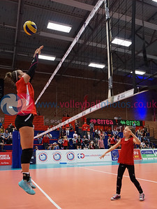 Su Ragazzi 3 v 0 University of Edinburgh (12, 23, 20), 2018 Women's Scottish Cup Final, University of Edinburgh Centre for Sport and Exercise, Sat 21st Apr 2018.  © Michael McConville   https://www.volleyballphotos.co.uk/2018/SCO/Cups/2018-04-21-Womens-Cup-Final