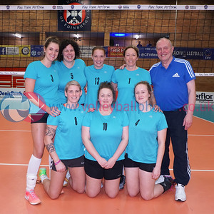 Troon Vets v Su Ragazzi II, 2018 Women's Scottish Plate Final, University of Edinburgh Centre for Sport and Exercise, Sat 21st Apr 2018.  © Michael McConville   https://www.volleyballphotos.co.uk/organize/2018/SCO/Cups/2018-04-21-Womens-Plate-Final