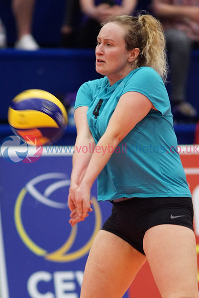 """Troon Vets 3 v 0 Su Ragazzi II (17, 8, 21), 2018 Women's Scottish Plate Final, University of Edinburgh Centre for Sport and Exercise, Sat 21st Apr 2018. <br /> © Michael McConville  <br /> <a href=""""https://www.volleyballphotos.co.uk/organize/2018/SCO/Cups/2018-04-21-Womens-Plate-Final"""">https://www.volleyballphotos.co.uk/organize/2018/SCO/Cups/2018-04-21-Womens-Plate-Final</a>"""