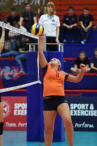 West Lothian Foxes 1 v 2  (25-19, 22-25, 15-9), University of Dundee, Conference Final, University of Edinburgh, Centre for Sport and Exercise, 21 April 2018.  © Lynne Marshall  https://www.volleyballphotos.co.uk/2018/SCO/Cups/2018-04-21-womens-conference-cup/
