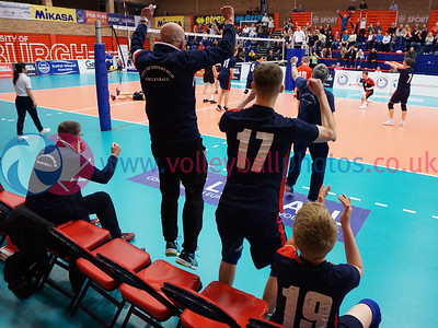 South Ayrshire 1 v 2 City of Edinburgh (25-22, 24-26, 8-15), 2018 U18 Boys Scottish Cup, University of Edinburgh Centre for Sport and Exercise, Sun 22nd Apr 2018.  © Michael McConville   https://www.volleyballphotos.co.uk/2018/SCO/Junior-SVL/2018-04-22-Mens-U18-Cup-Final