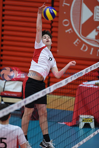 VA Blaze 2 vs 0 City of Edinburgh (15-25, 14-25), Men's Under 16 Scottish Cup Final, University of Edinburgh, Centre for Sport and Exercise, 22 April 2018.  © Lynne Marshall  https://www.volleyballphotos.co.uk/2018/SCO/Junior-SVL/2018-04-22-U16-Boys-Junior-Cup-Final/